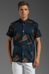 Marc By Marc Jacobs Planted Print Short Sleeve Button Up Shirt - Lyst