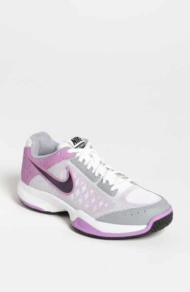 Nike Air Cage Court Tennis Shoe Women in (white/ purple/ pink