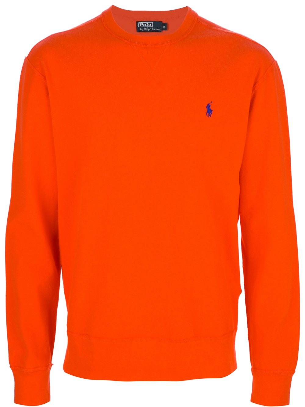 polo ralph lauren crew neck sweatshirt in orange for men lyst. Black Bedroom Furniture Sets. Home Design Ideas