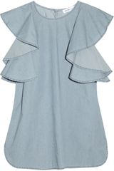 See By Chloé Ruffled Chambray Dress - Lyst