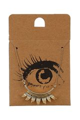 Topshop Eyelash Ditsy Necklace - Lyst