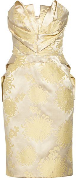 Zac Posen Silk-Blend Jacquard Dress - Lyst