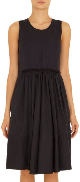 Marni Sleeveless Gathered Front Dress - Lyst