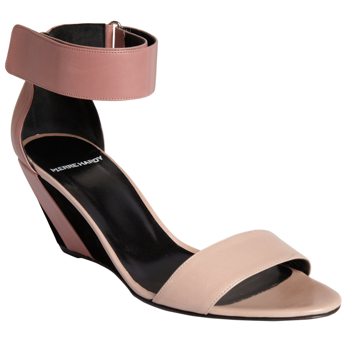6ceac198bcf0 Pierre Hardy Wide Ankle Strap Wedge Sandal in Pink - Lyst