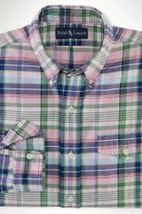 Polo Ralph Lauren Customfit Twill Plaid Shirt - Lyst