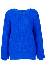 Topshop Knitted Textured Stitch Jumper - Lyst