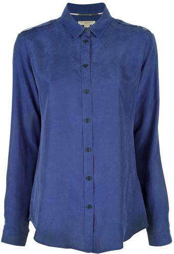 Burberry Brit Silk Blouse - Lyst