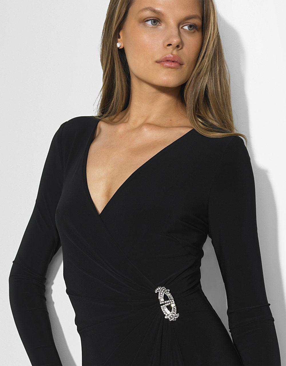 Ralph Lauren Long Sleeve Evening Dress