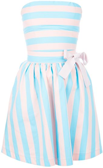 Love Moschino Twotone Bandeau Dress - Lyst