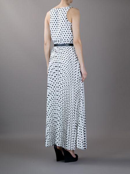 Michael Michael Kors Panama Dot Print Maxi Dress In White