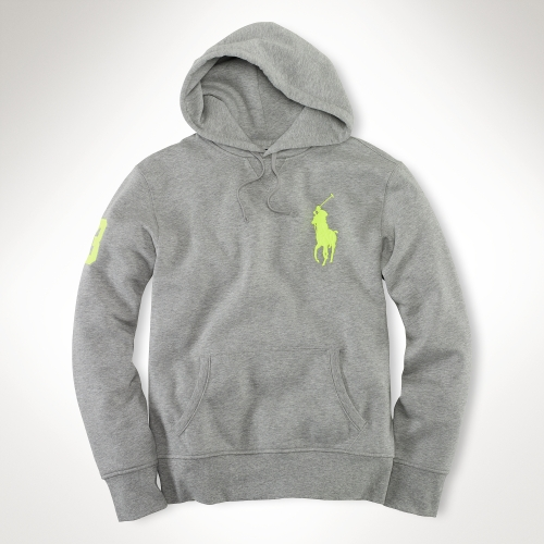Ralph Lauren Women Big Pony Grey Soft Hoody