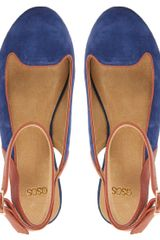 Asos Asos Lift Off Suede Ballet Flats in Blue (navy) - Lyst