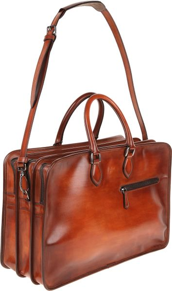 Berluti Trois Nuits Bag In Brown For Men Rust Lyst