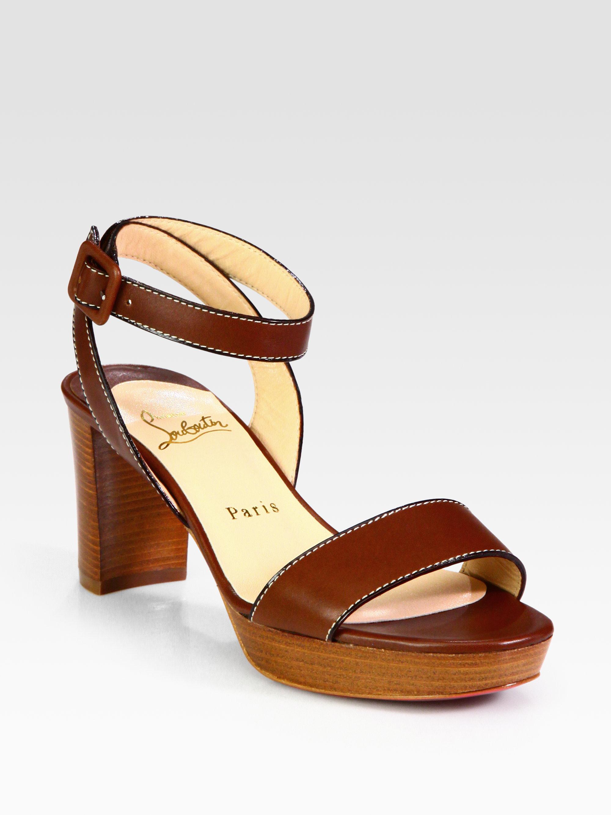 christian louboutin carlota patent platform sandals | Landenberg ...