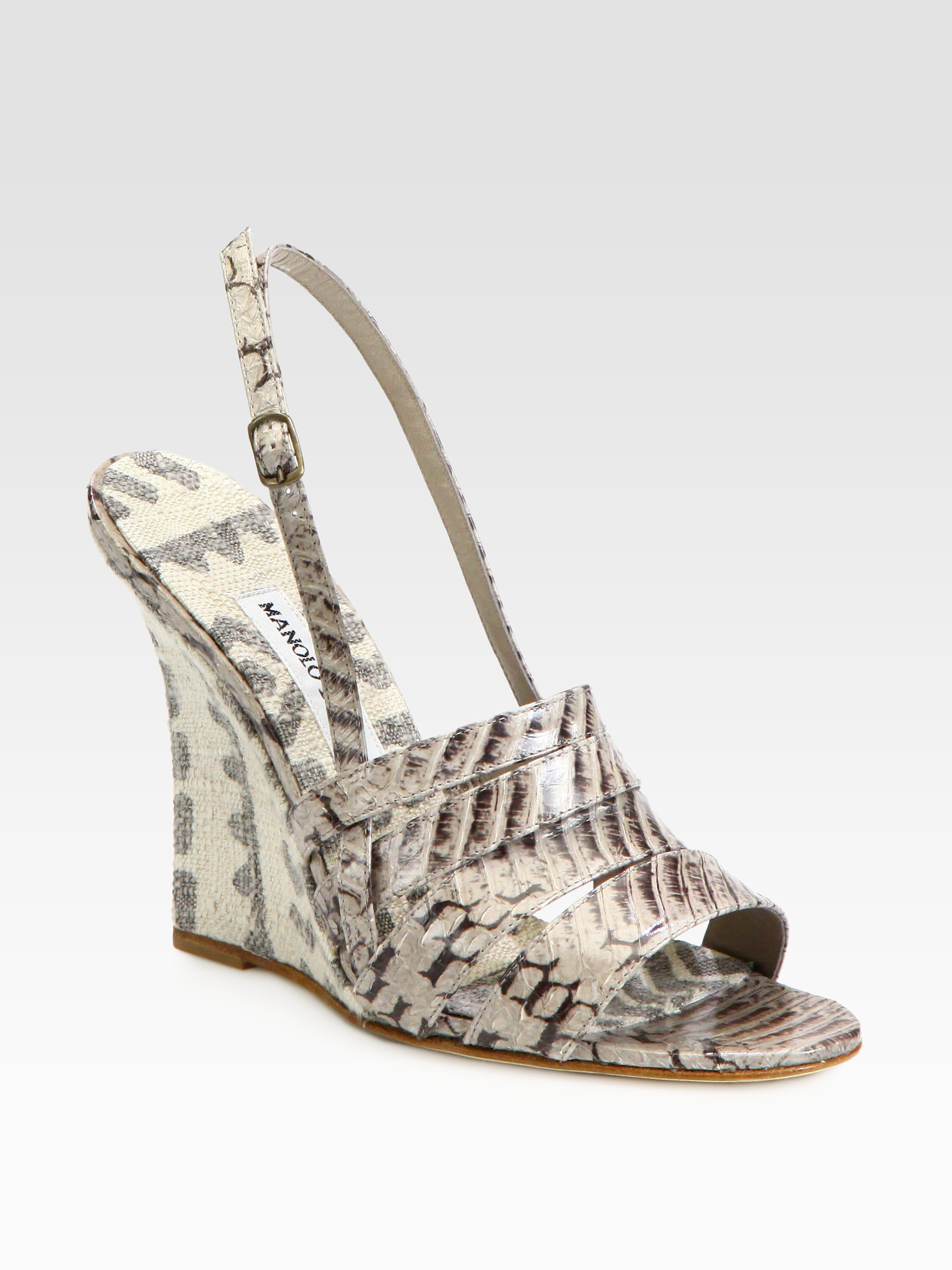discount extremely for sale 2014 Manolo Blahnik Slingback Wedge Sandals 3gIAYX3gCD
