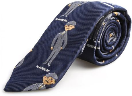 Mr Bathing Ape Mr Man Detail Tie Navy Blue In Blue For
