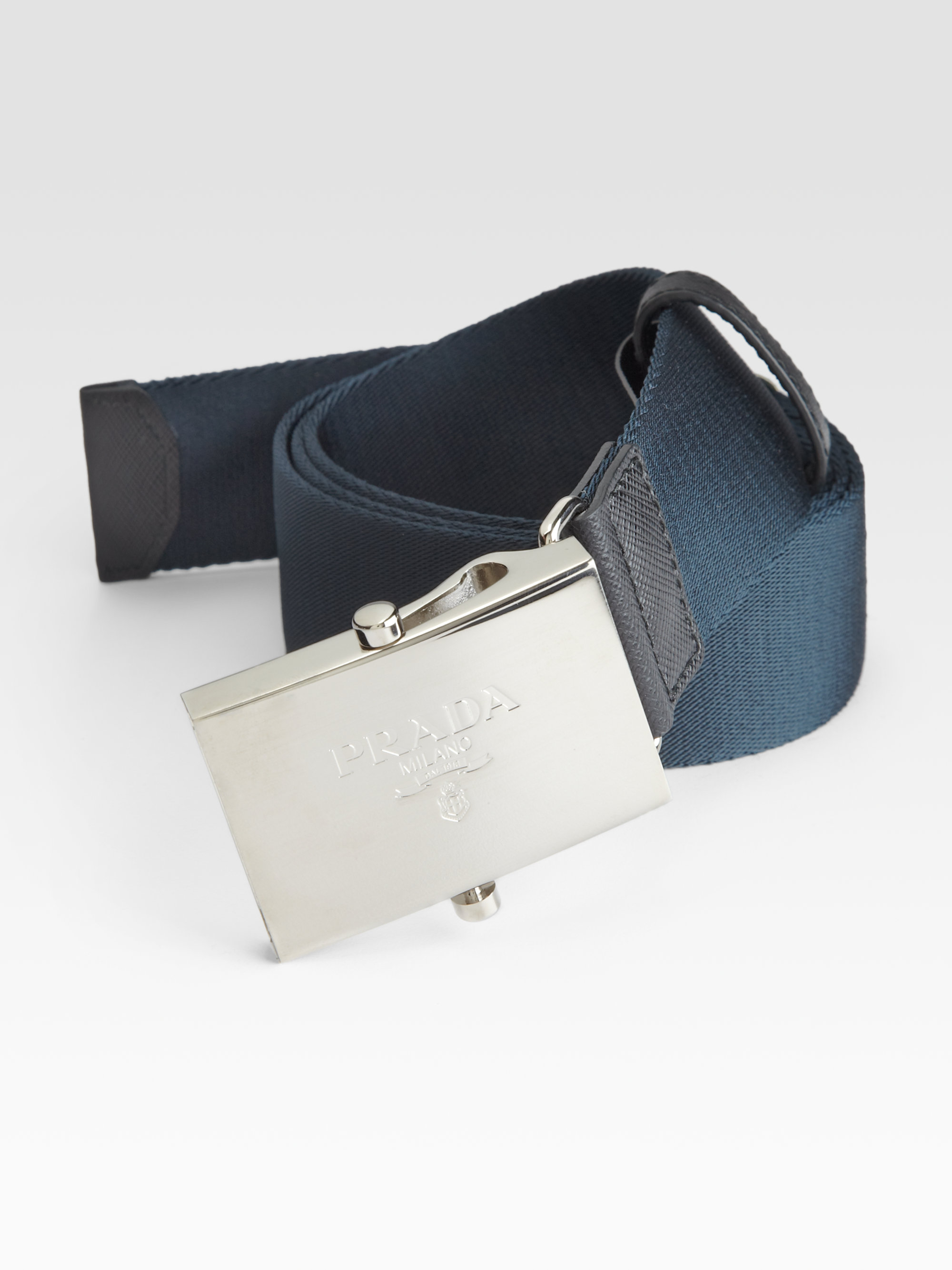 c573fbbbf3ed7 ... usa lyst prada nylon belt in blue for men d7d76 cca5a