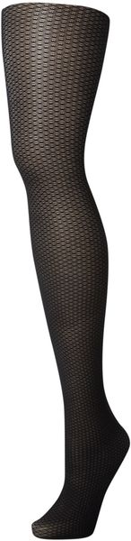 Pretty Polly Pp Premium Panelled Mesh Front Seam Tights - Lyst