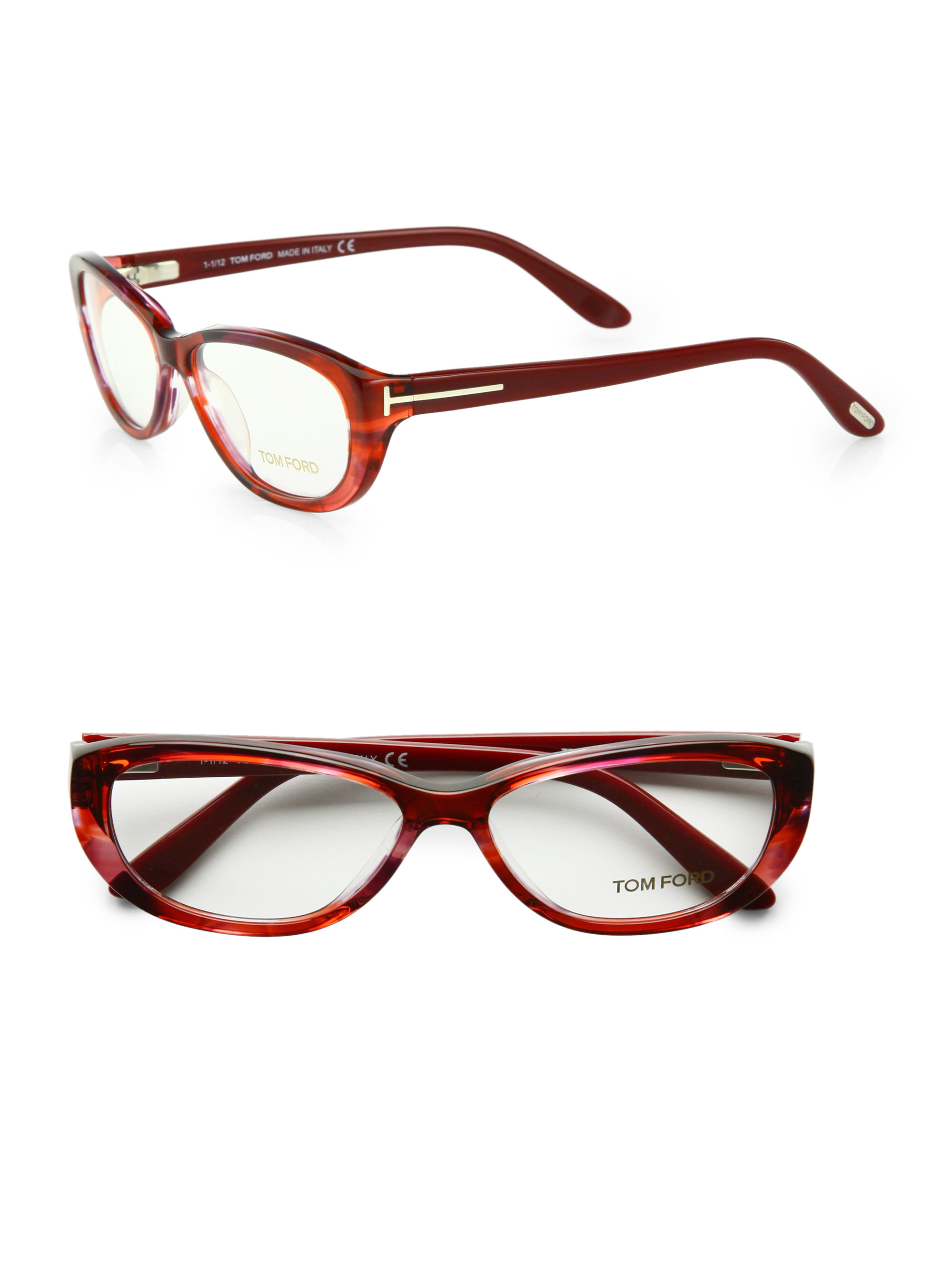 Lyst Tom Ford Logo Glasses In Red