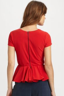 Alice + Olivia Nero Peplum Top - Lyst