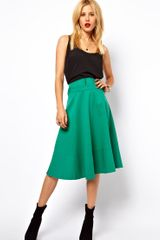 ASOS Collection Asos Midi Skirt in Washed Cotton - Lyst