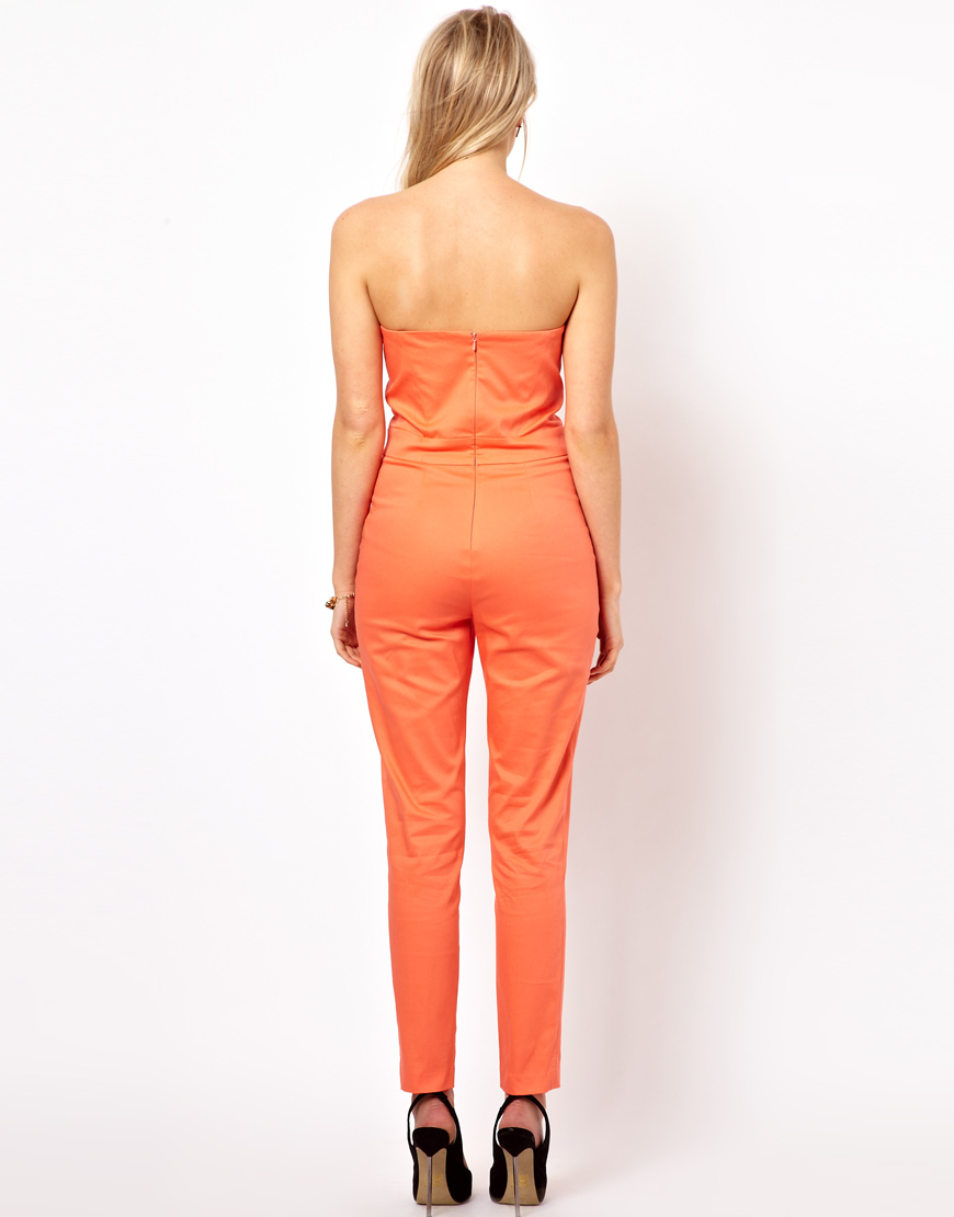 lyst asos collection jumpsuit with pleat bust origami