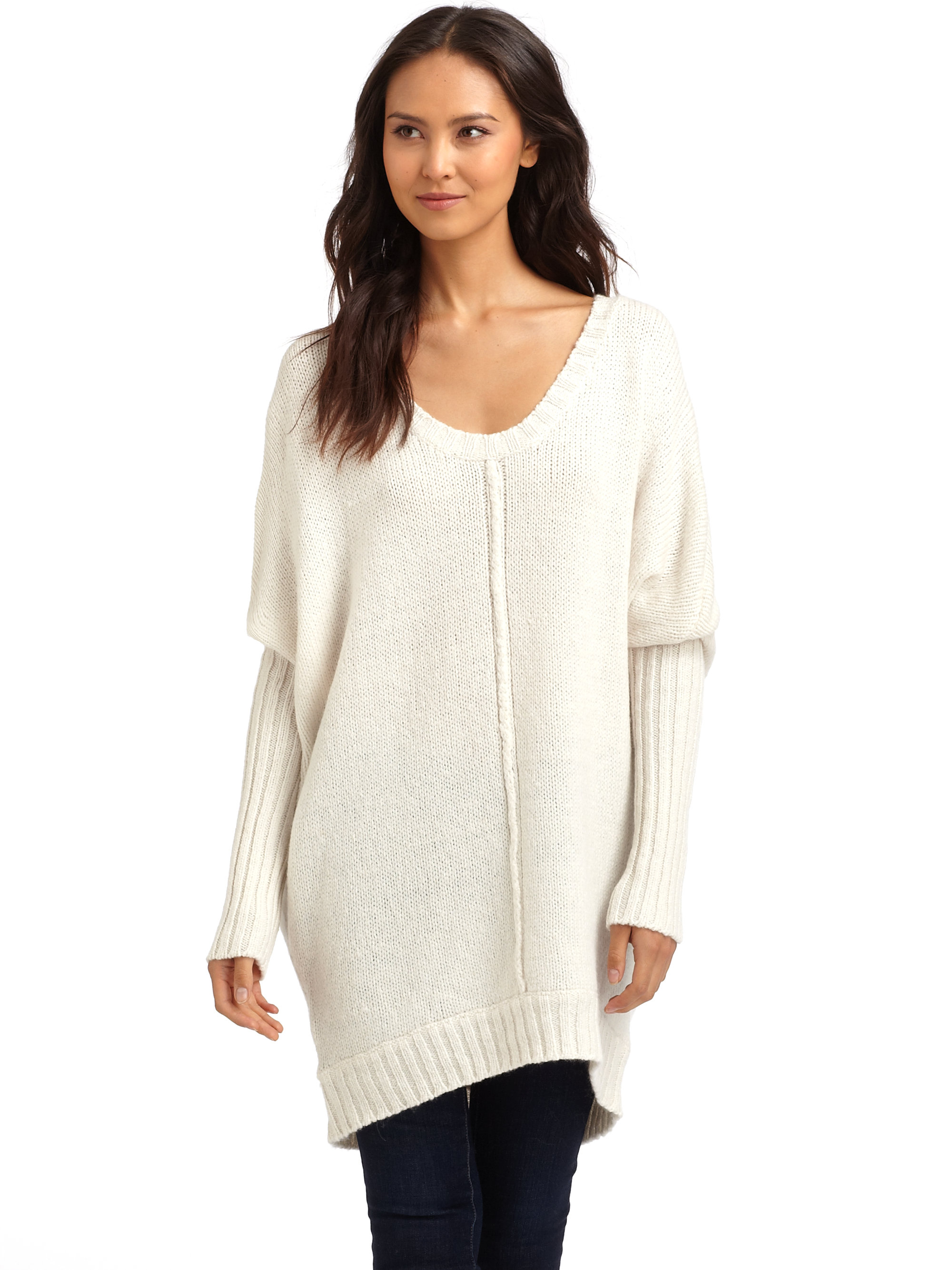 Bcbgmaxazria Oversized Sweater in Natural | Lyst