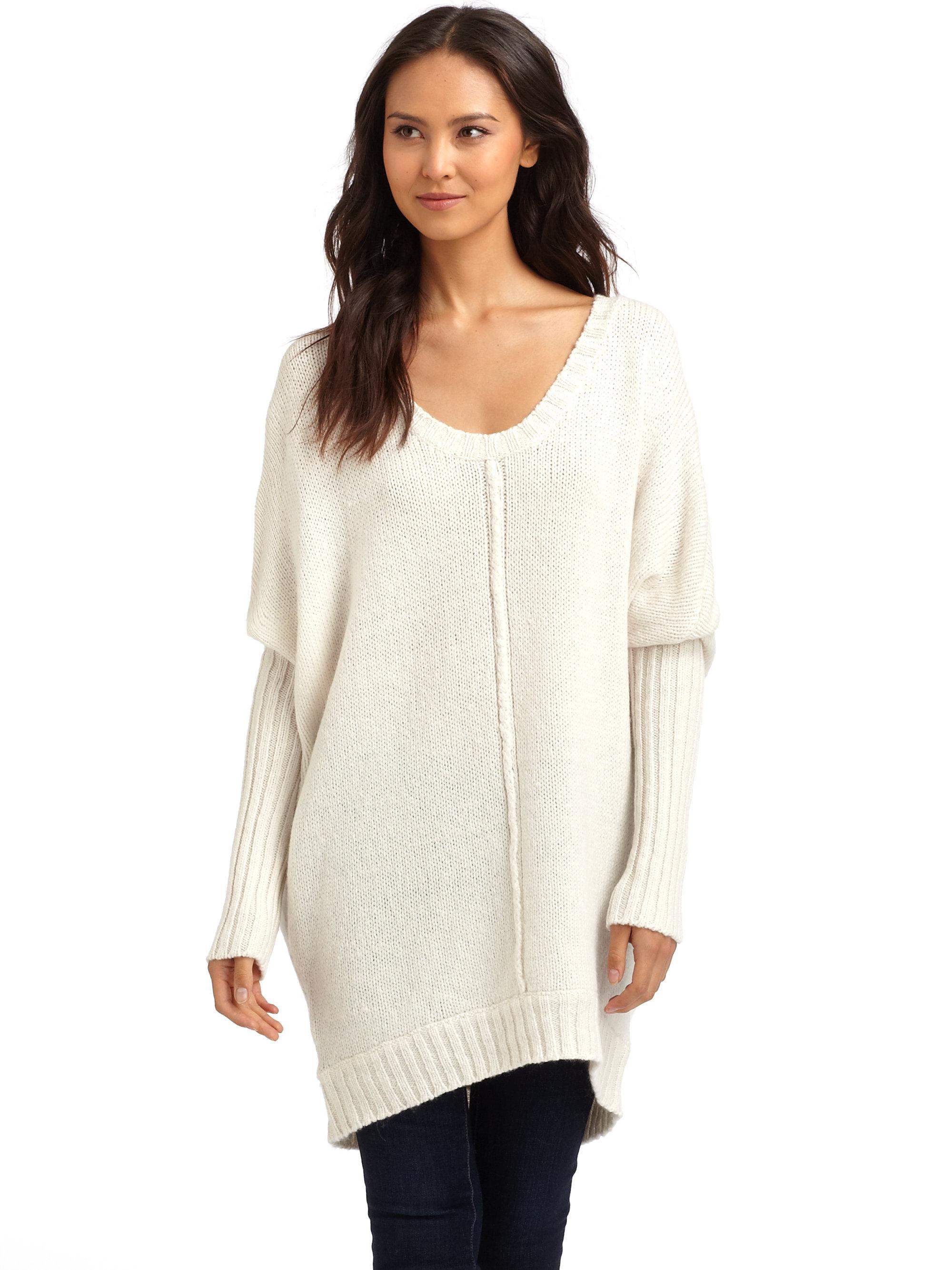 Bcbgmaxazria Oversized Sweater in Natural | Lyst