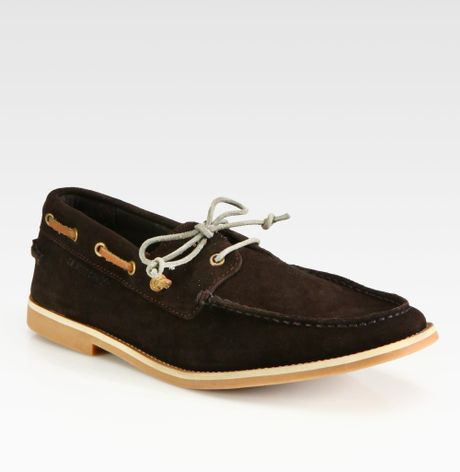 boss orange cobrion suede boat shoes in brown for men lyst. Black Bedroom Furniture Sets. Home Design Ideas