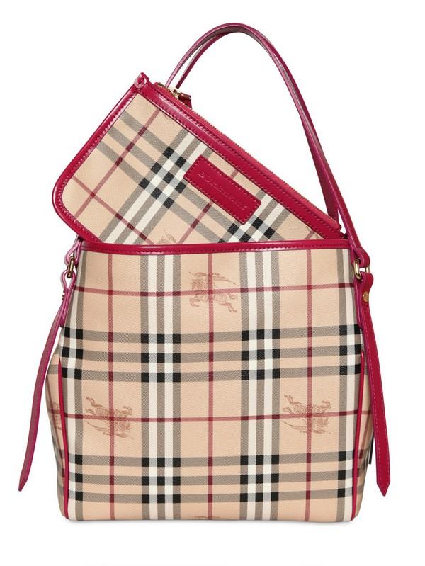 ce133b24623b Lyst - Burberry Small Canterbury Haymarket Pvc Bag in Natural