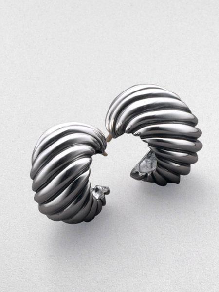 David Yurman Cable Classics Hoop Earrings in Silver | Lyst