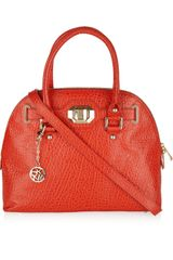 DKNY Grained Leather Leather Tote - Lyst