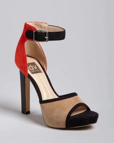 dolce vita dv peep toe platform ankle sandals pica high