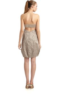 Giorgio Armani Beaded Cutout Cocktail Dress - Lyst