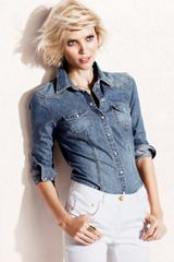 H&M Denim Shirt - Lyst