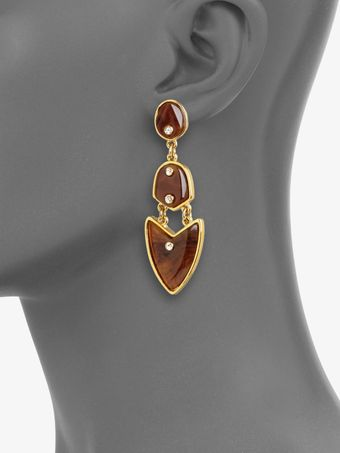 Kara By Kara Ross Artemis Tortoiselook Drop Earrings - Lyst