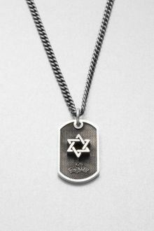 King Baby Studio Sterling Silver Star Of David Dog Tag Necklace - Lyst