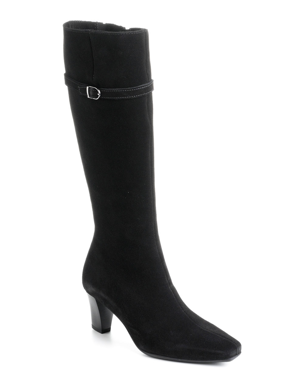 la canadienne dancer suede boots in black lyst