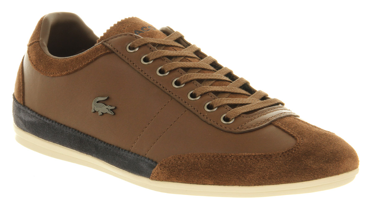 5bc774ceac0a6 Lyst - Lacoste Misano Brown Blue in Brown for Men