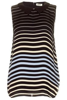 L'Agence Sleeveless Stripe Silk Blouse - Lyst