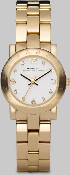 Marc By Marc Jacobs Womens Steel Bracelet Round Watch in Gold - Lyst