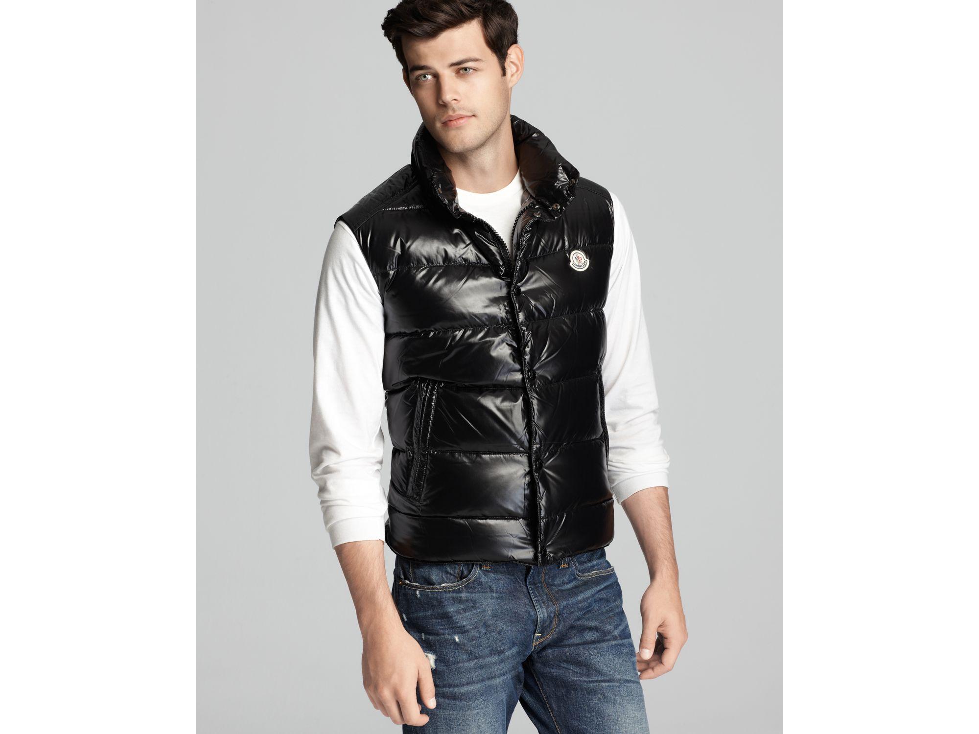 ffc406c05de83e Moncler Shiny Tib Vest in Black for Men - Lyst