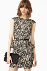 Nasty Gal Black Bloom Peplum Dress - Lyst