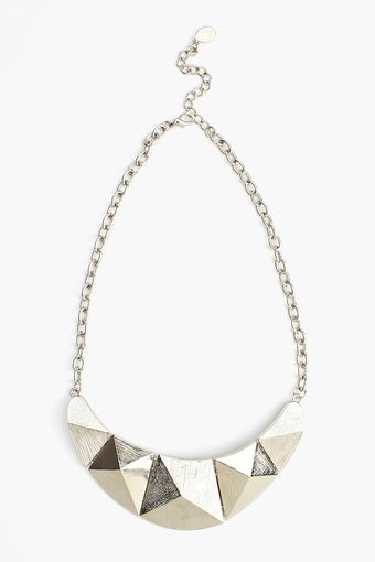 Nasty Gal Pyramids Necklace - Lyst