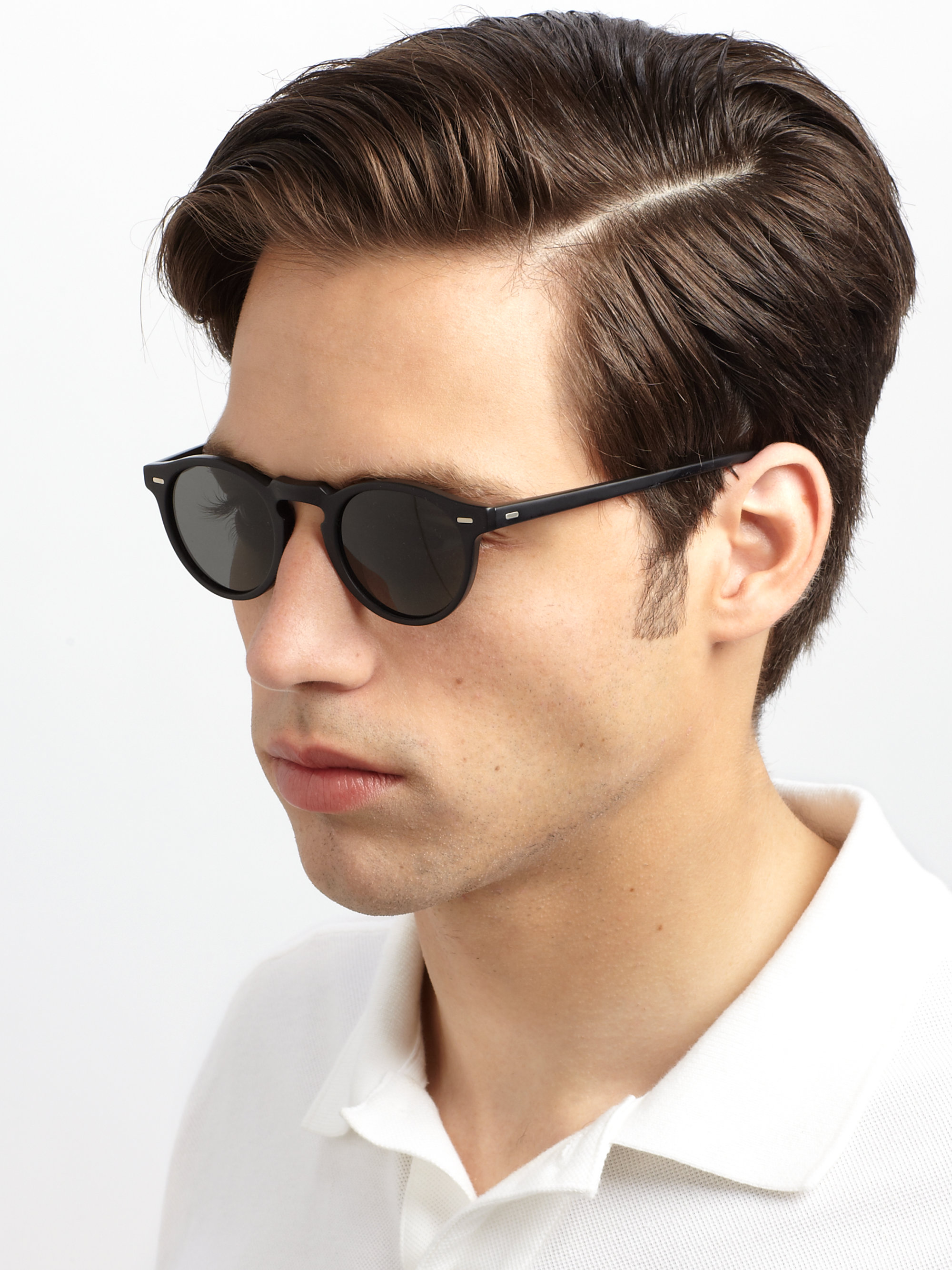 4be37ac26f Oliver peoples Gregory Peck Sunglasses in Black for Men