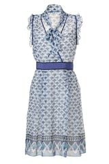 Philosophy di Alberta Ferretti Printed Silk Dress - Lyst