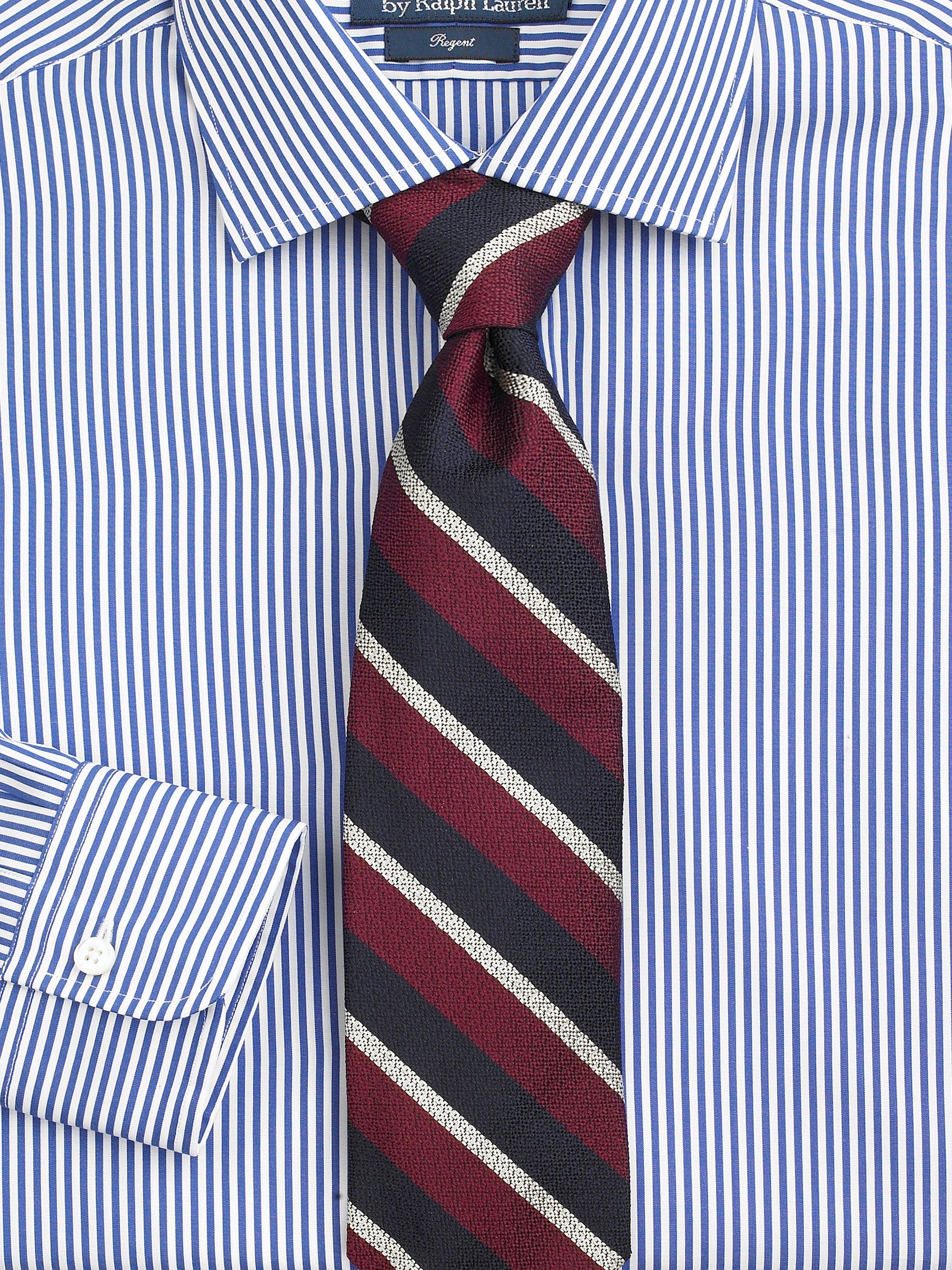 Lyst Polo Ralph Lauren Customfit Striped Regent Dress Shirt In