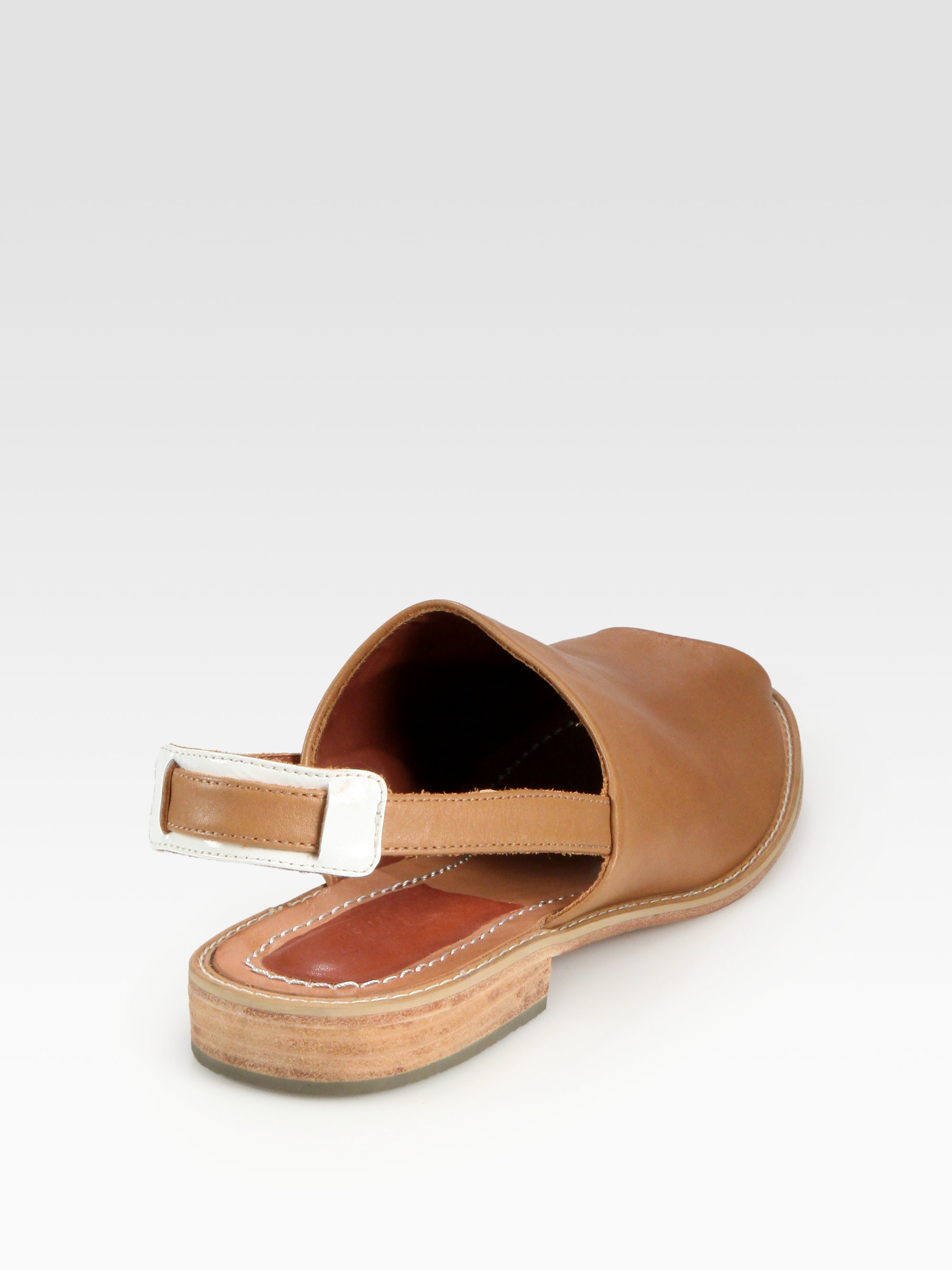 7c8e9bd8d Lyst - Rachel Comey Persea Leather Slingback Sandals in Brown