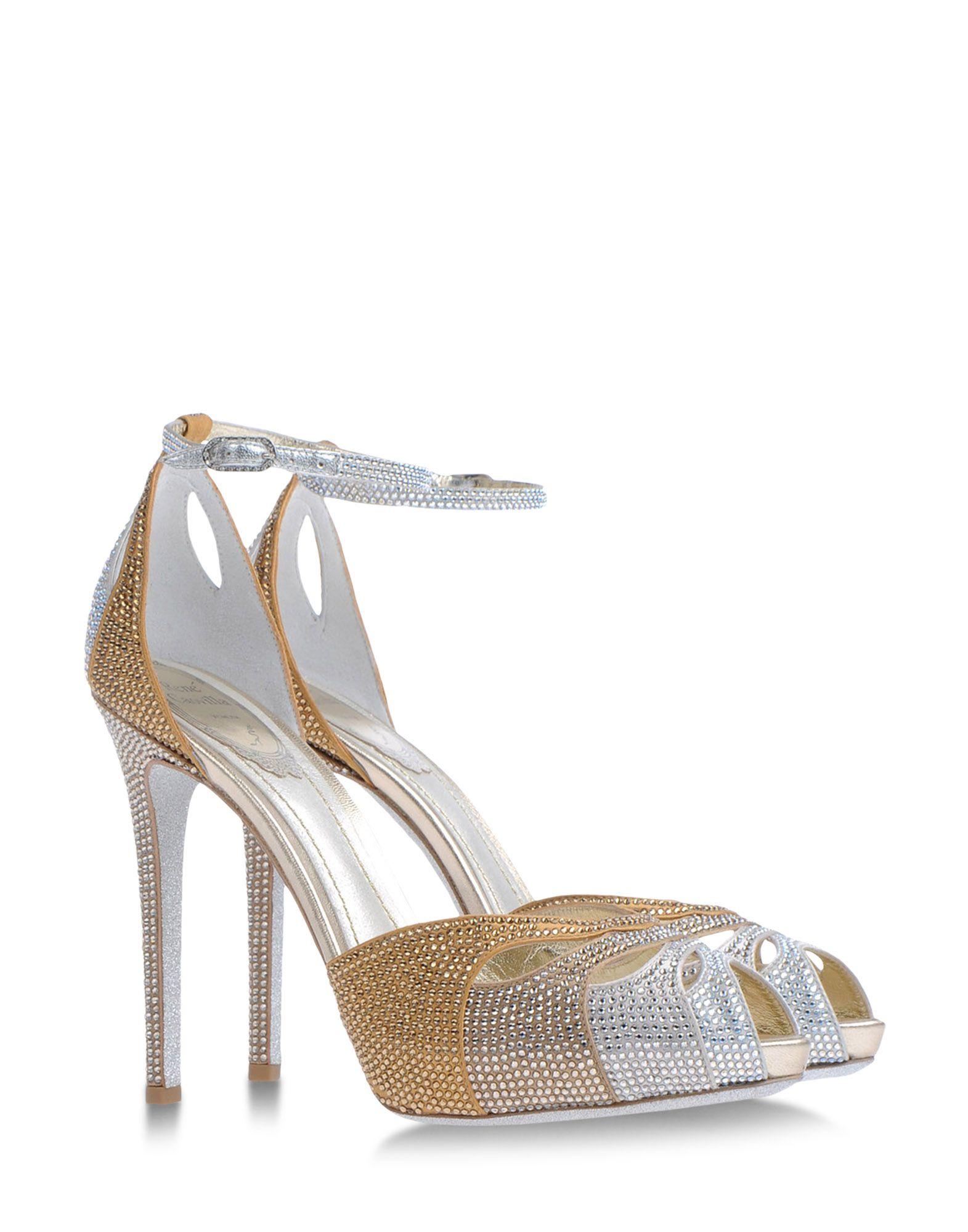 Rene Caovilla Sandals In Silver Bronze Lyst