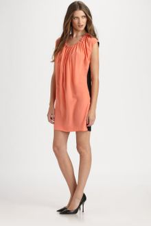 Robert Rodriguez Colorblocked Tunic Dress - Lyst